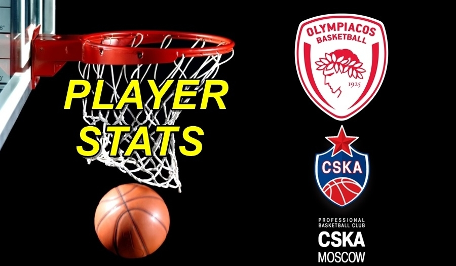 Olympiacos-CSKA Moscow Player Stats