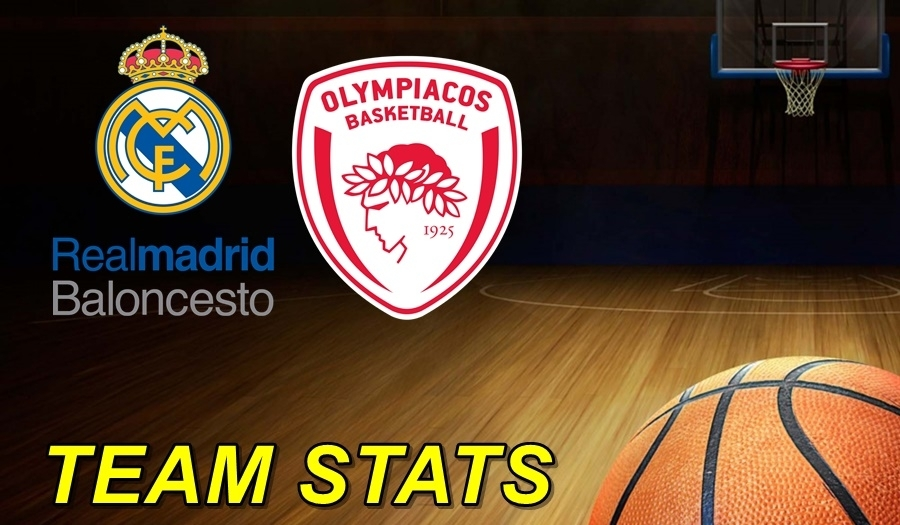 Real Madrid-Olympiacos Team Stats