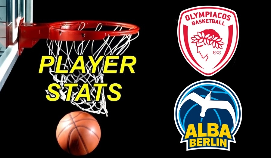 Olympiacos-Αlba Berlin Player Stats